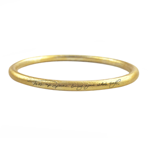 """TAKE UP SPACE BEING YOUR WHOLE SELF""  GOLD ANODIZE BANGLE - RYANN RICHARDSON COLLABORATION"