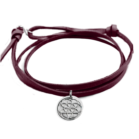 Seed of Life Leather Bracelet