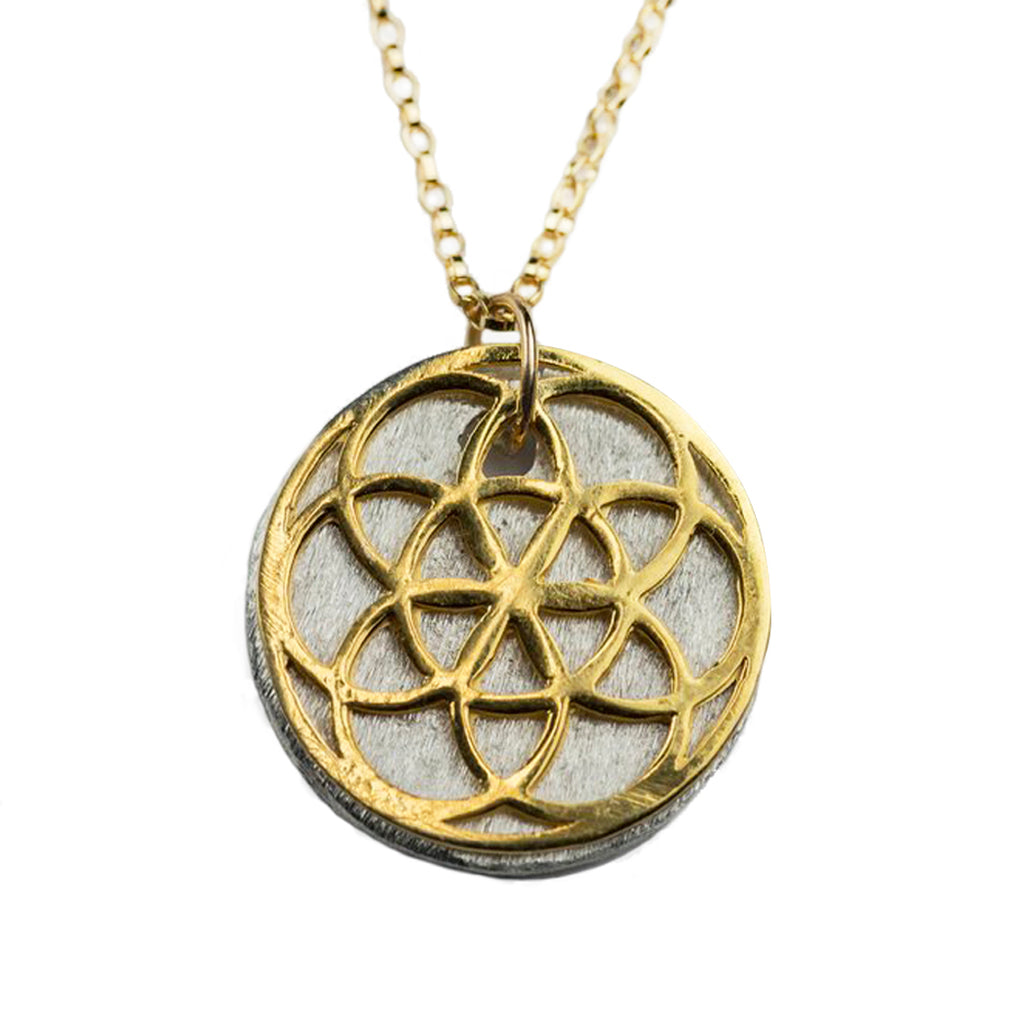Seed of life 14k yellow gold necklace article22 seed of life 14k yellow gold necklace aloadofball Gallery