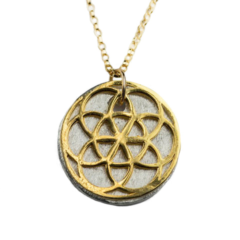 SEED of Life 14K Gold Necklace