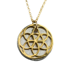 SEED of Life 14K Yellow Gold Necklace
