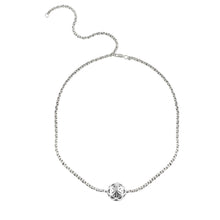 Load image into Gallery viewer, SPHERIC SEED OF LIFE CHOKER NECKLACE - SILVER