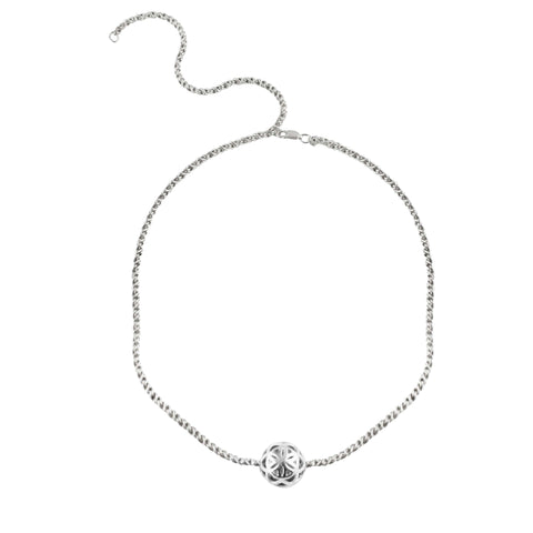 SPHERIC SEED OF LIFE CHOKER NECKLACE - SILVER
