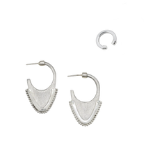 Load image into Gallery viewer, TRIBAL DOME EARRINGS  +  VIRTUOUS CIRCLE EAR CUFF - SET (RRP $230)