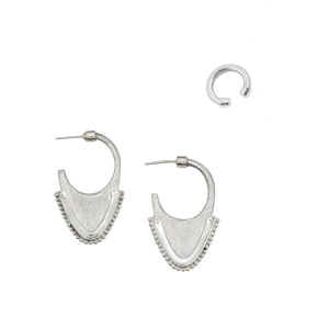 TRIBAL DOME EARRINGS  +  VIRTUOUS CIRCLE EAR CUFF - SET (RRP $230)