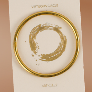 NEW VIRTUOUS CIRCLE GOLD TONE SKINNY BANGLE