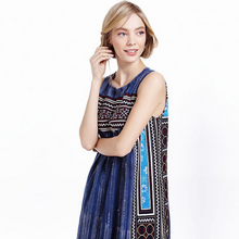 Load image into Gallery viewer, INDIGO BATIK EMBROIDERED DRESS