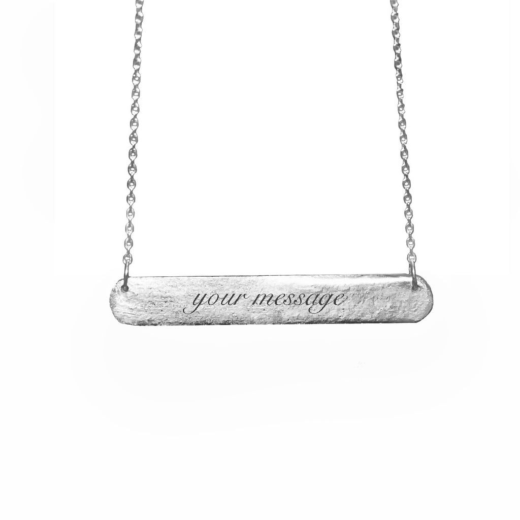 Your Message Bar Tag Necklace