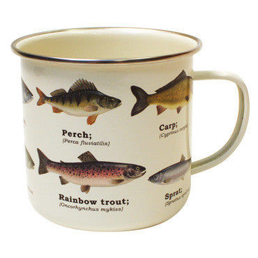 fish biology travel enamel mug