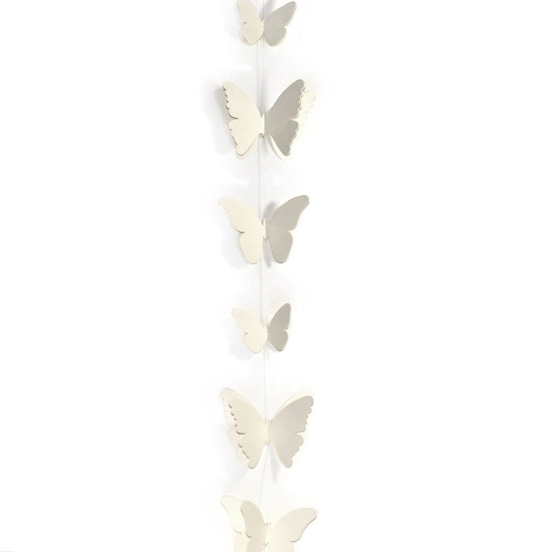 White Paper Butterfly Garland