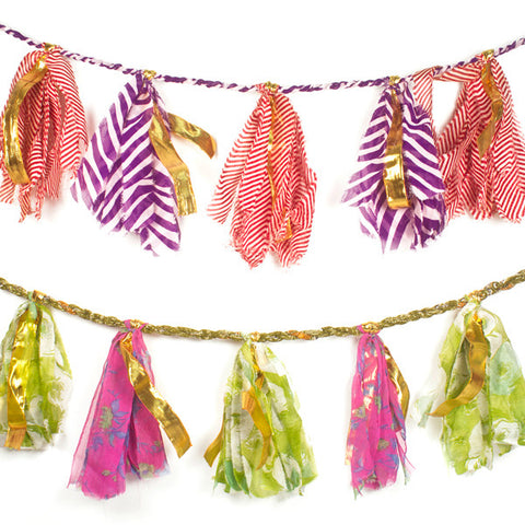 Recycled Sari Party Garland