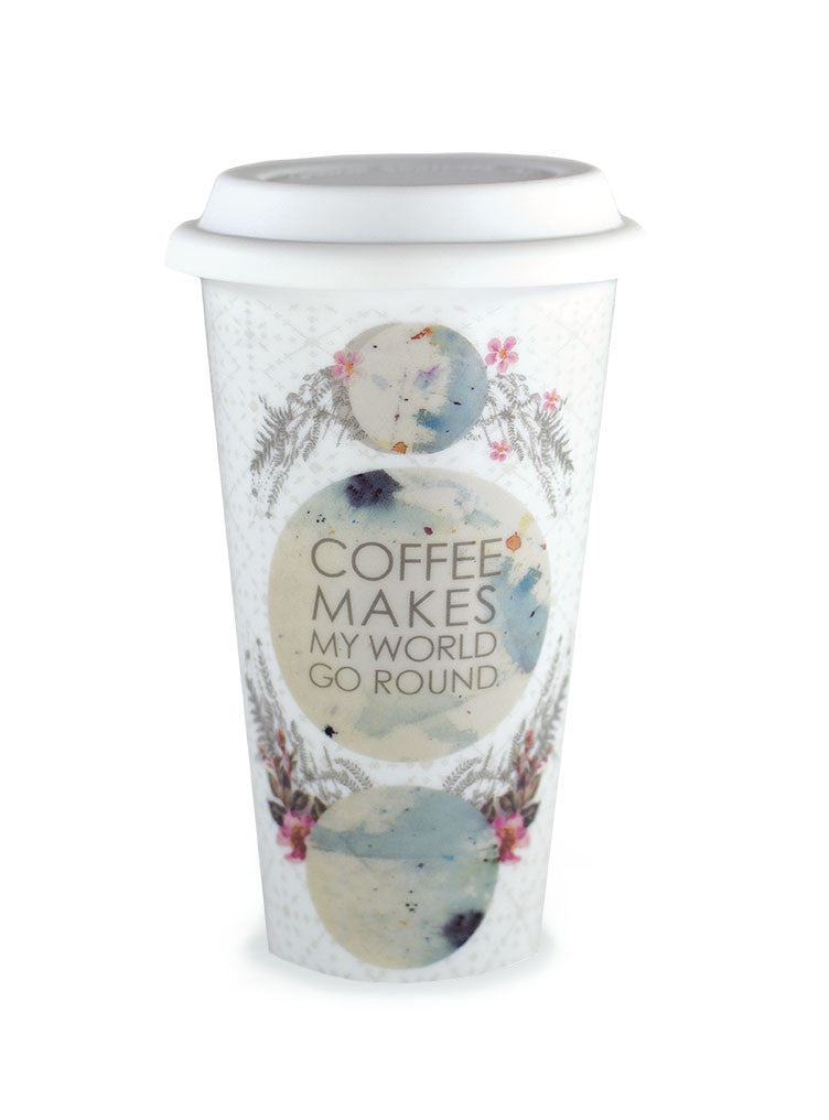 Coffee Makes My World Go Round Travel Mug