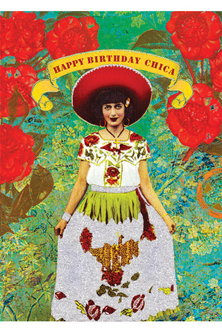 Happy Birthday Chica Card