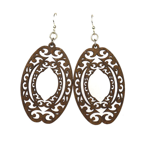 recycled wooden earrings made in california