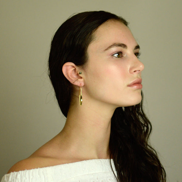 Gold Hoop Threader Earrings