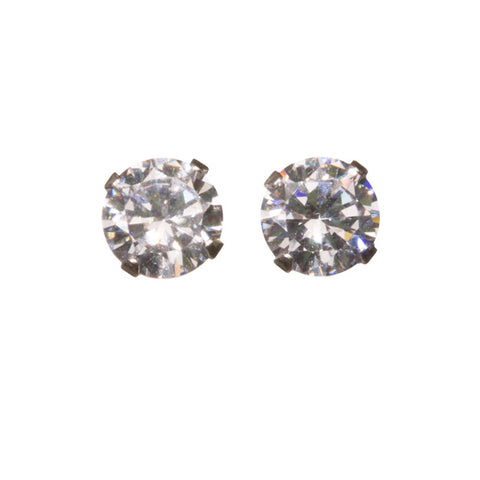Large Sterling, CZ Studs