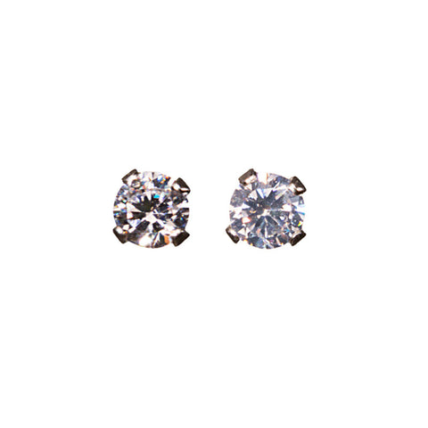 Small Sterling, CZ Studs