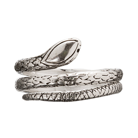 Silver Plated Coiled Snake Ring