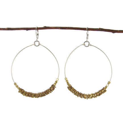 Metallic Pailette Drop Earrings
