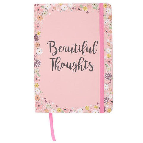 Hardback A5 notebook - Beautiful Thoughts