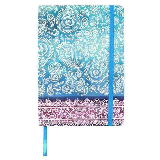 Hardback A5 notebook - Paisley pattern