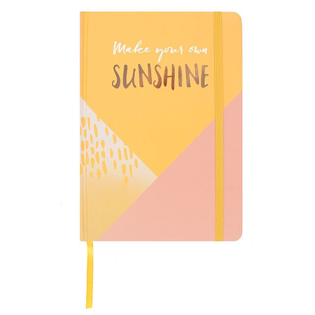 Hardback A5 notebook - Make Your Own Sunshine