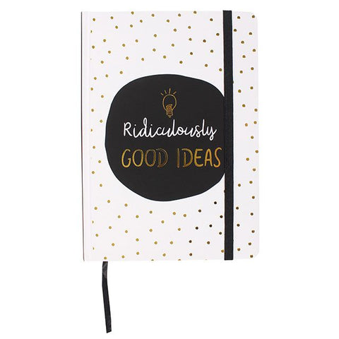 Hardback A5 notebook - Ridiculously Good Ideas