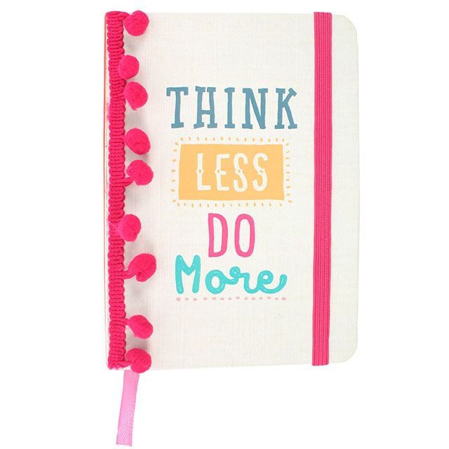 Hardback A6 notebook - Think Less Do More