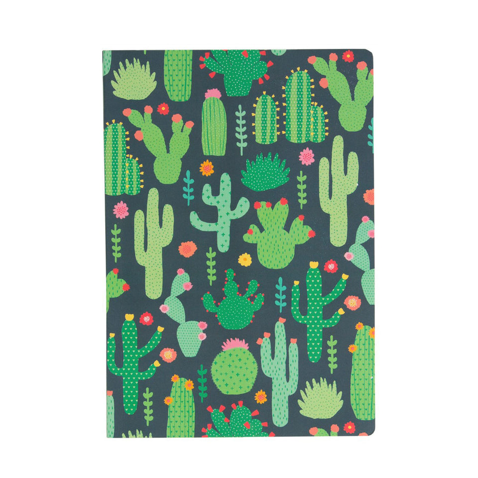 A5 Paperback Notepad - Cacti Love
