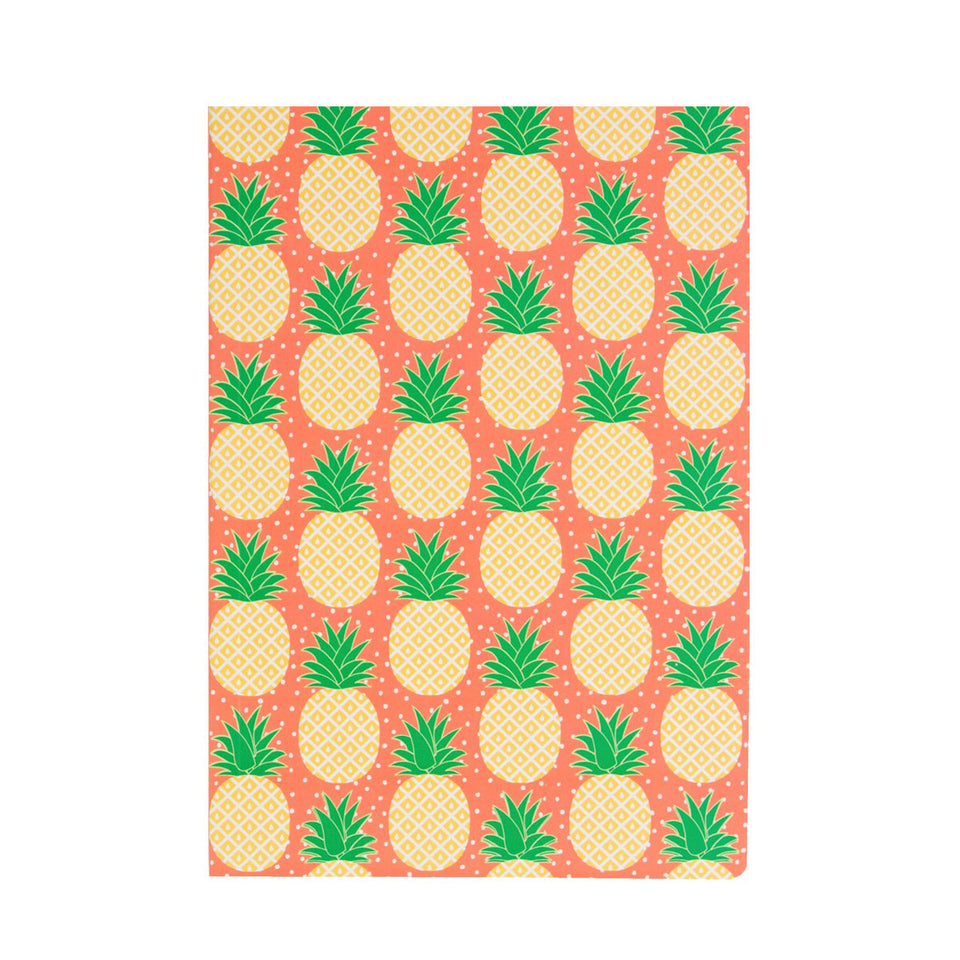 A5 Paperback Notepad - Pineapple