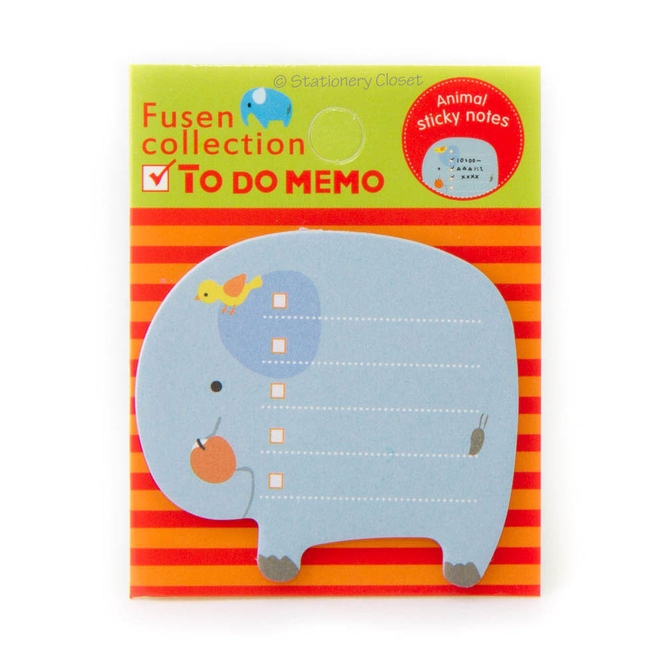 Sticky checklist notes - elephant