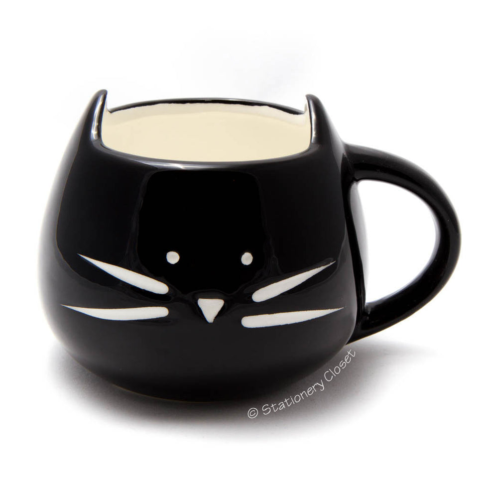 Kitty cat mug (black)