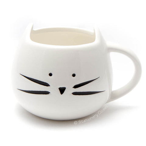 Kitty cat mug (white)