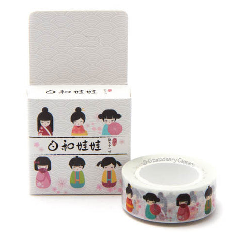 Washi tape - Japanese dolls