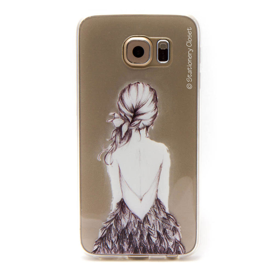 Samsung Galaxy S6 case - feather dress