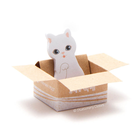 Cat in a box sticky markers - Turkish angora