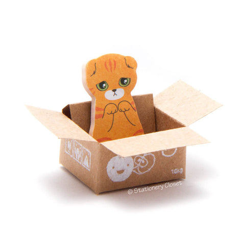 Cat in a box sticky markers - Scottish fold