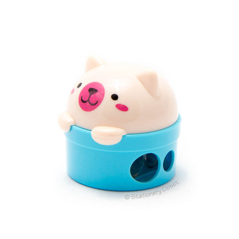 Bear pencil sharpener - blue
