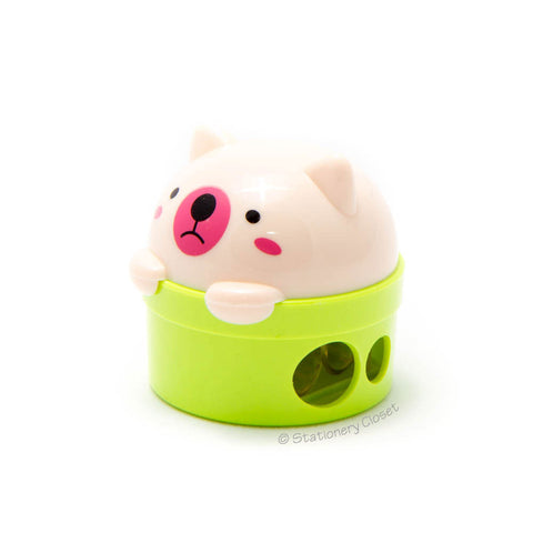 Bear pencil sharpener - green