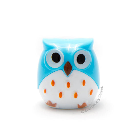 Owl pencil sharpener - blue