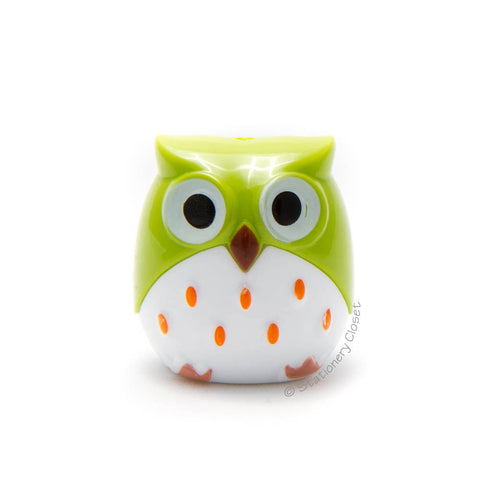 Owl pencil sharpener - green