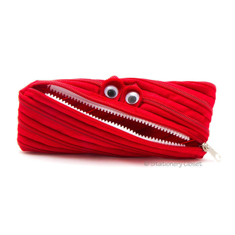 Zippy monster pencil case - red