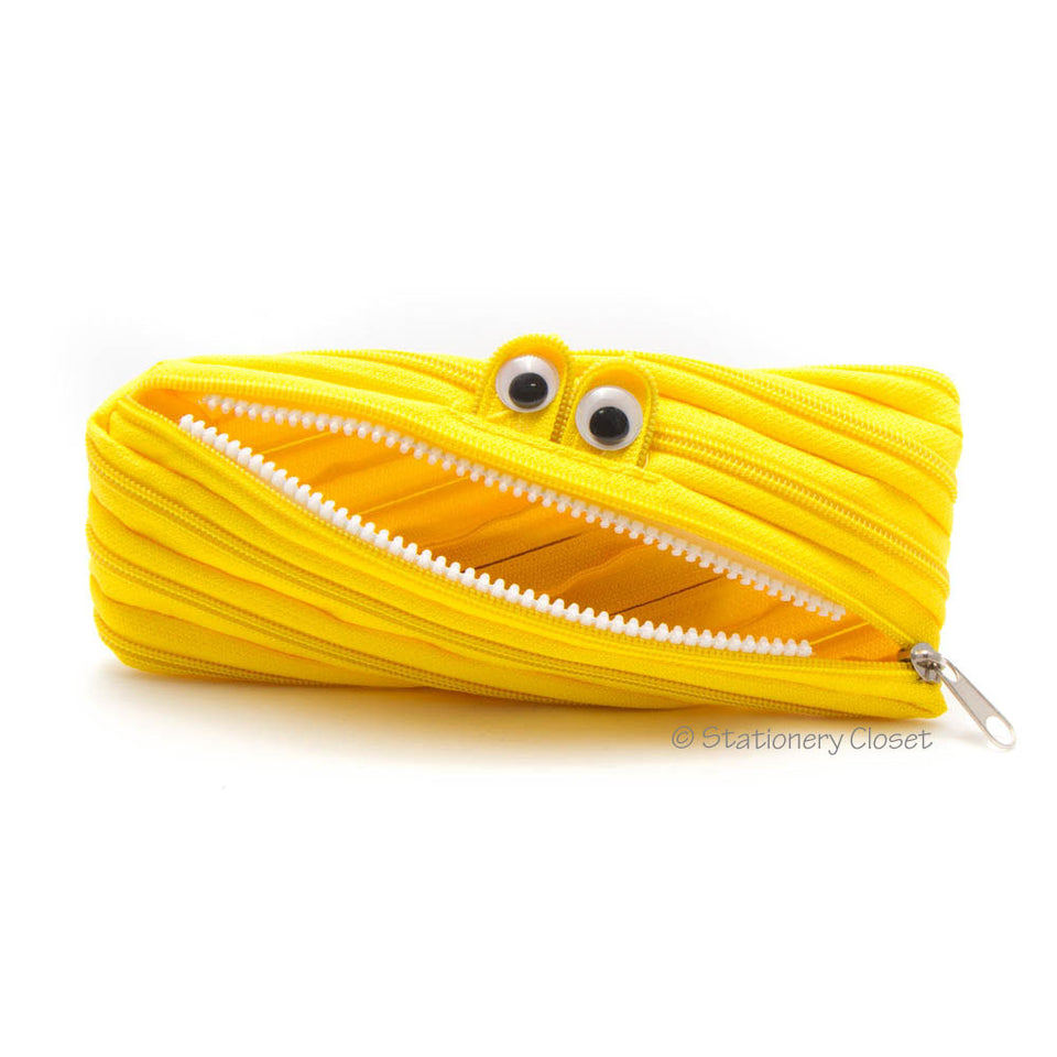Zippy monster pencil case - yellow