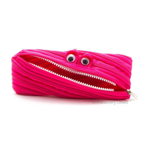 Zippy monster pencil case - pink
