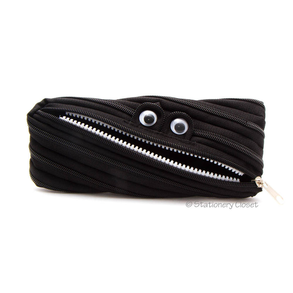 Zippy monster pencil case - black