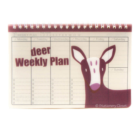 Wildlife animal weekly planner/organiser - deer