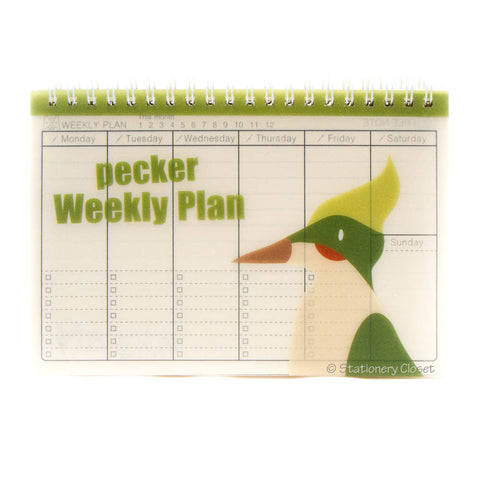 Wildlife animal weekly planner/organiser - woodpecker