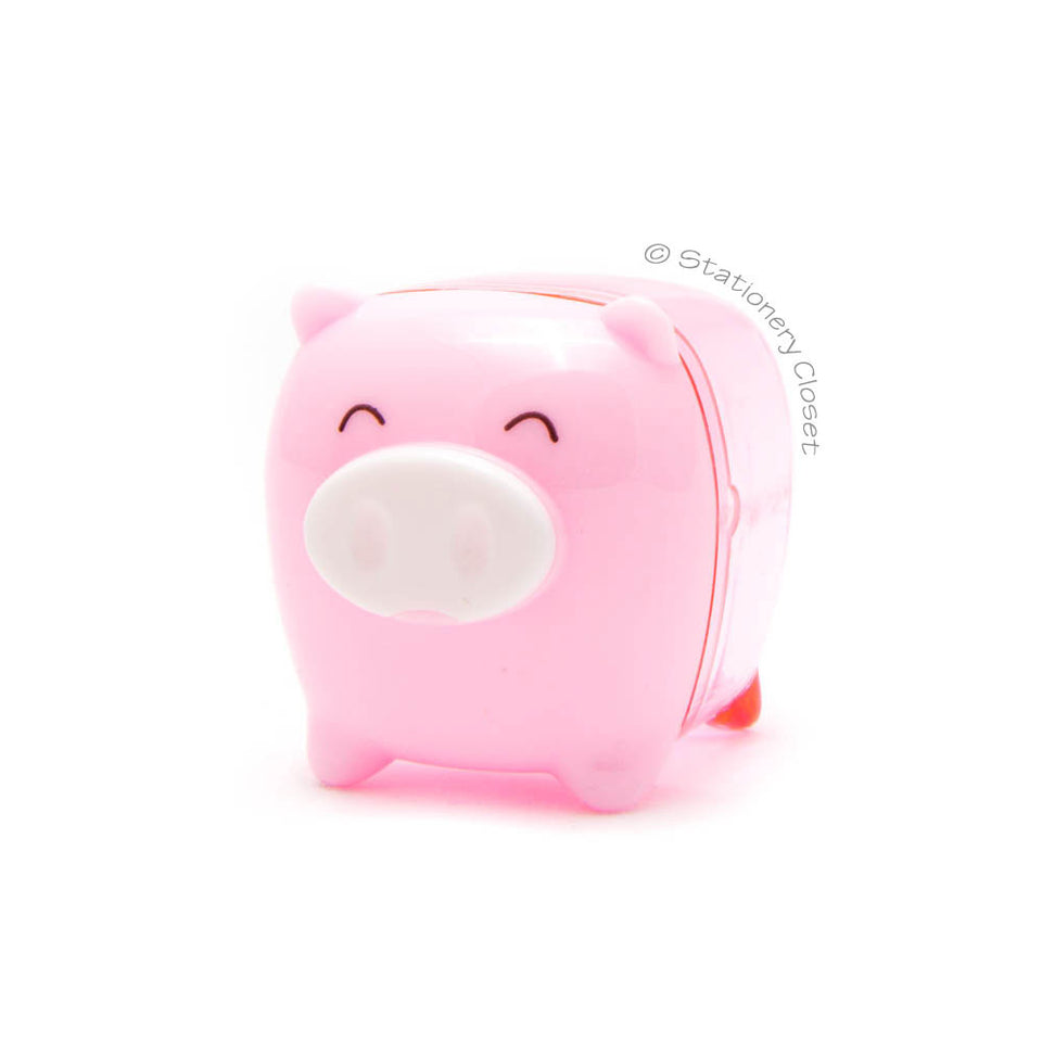 Piggy pencil sharpener - pink