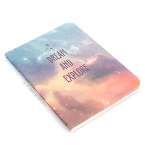Lined Paperback Notepad - Dream & Explore... the galaxy