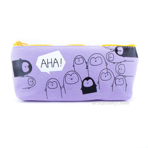 Animal party pencil case - penguin